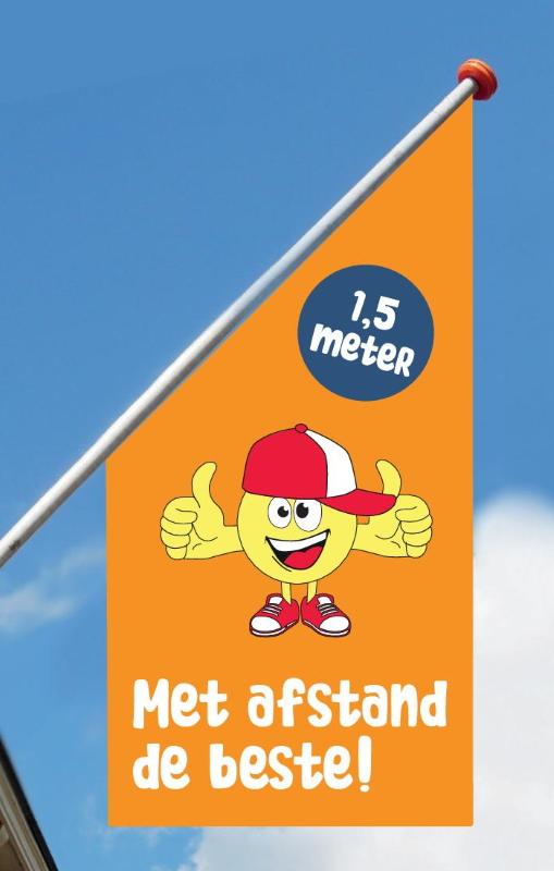back 2 normal kioskvlag oranje neutraal