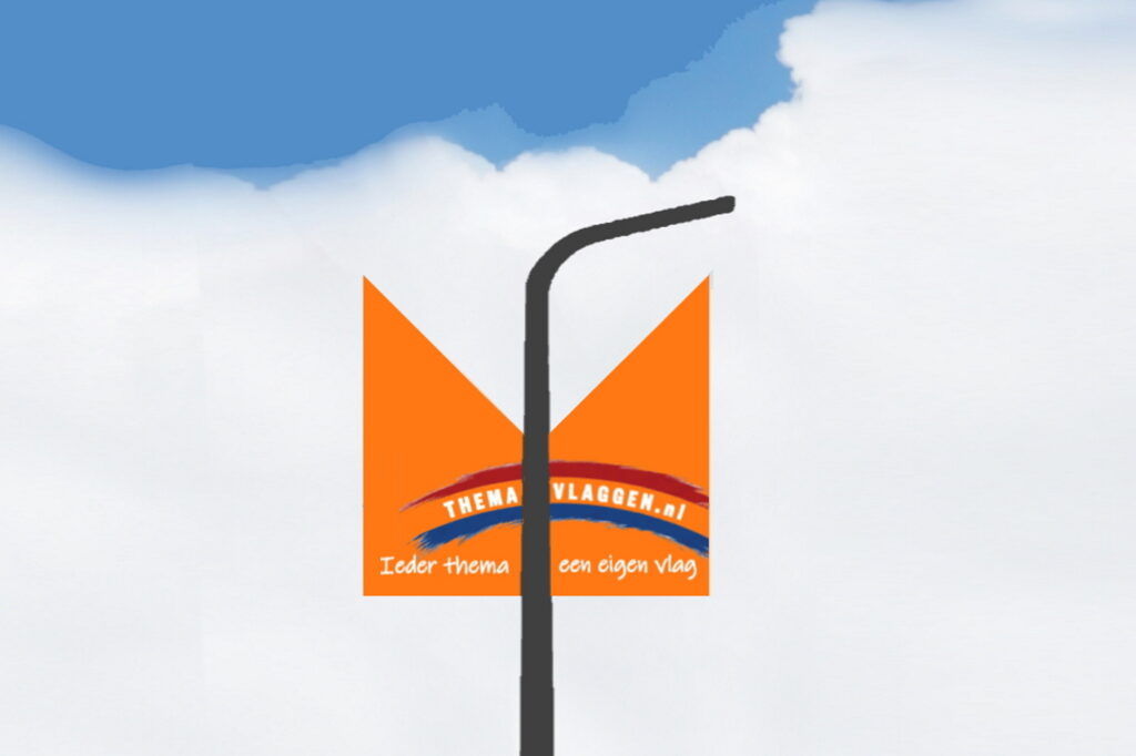 Themavlaggen straatlantaarnvlag smal duovlag