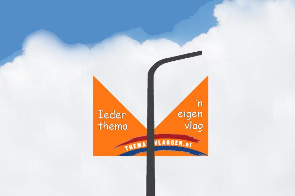 Themavlaggen straatlantaarnvlag breed duovlag