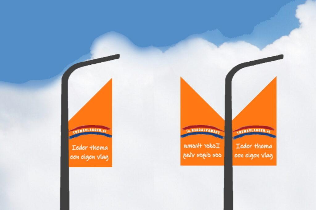 Themavlaggen straatlantaarnvlag smal