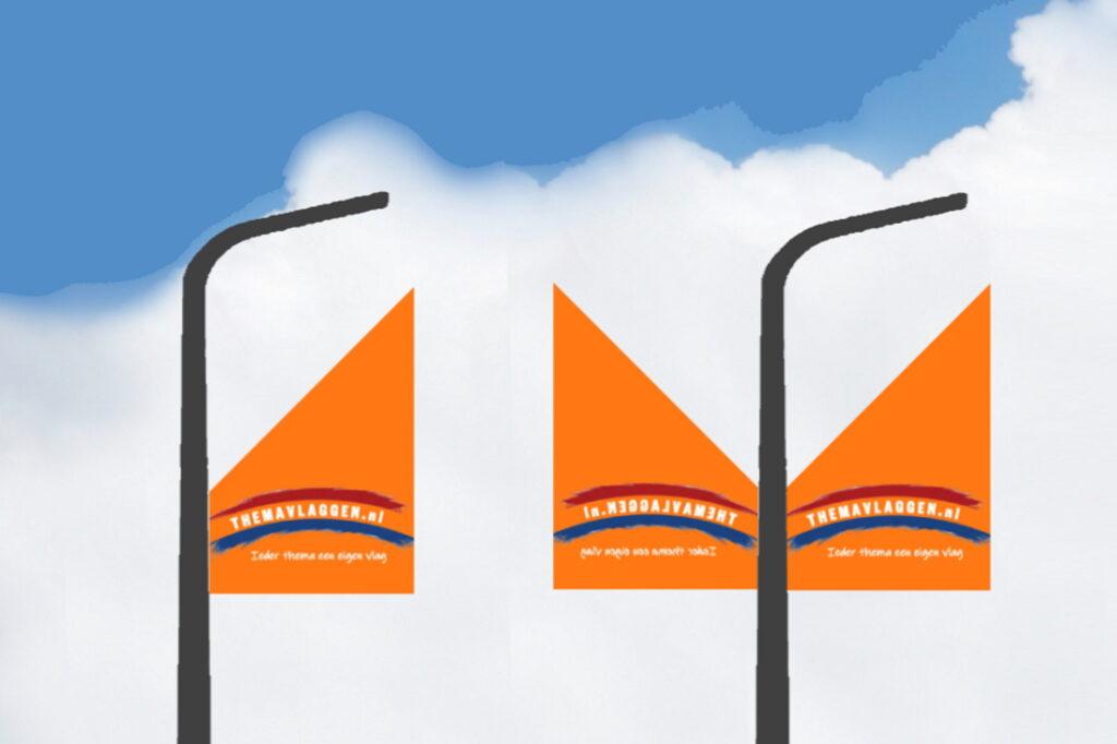 Themavlaggen straatlantaarnvlag breed